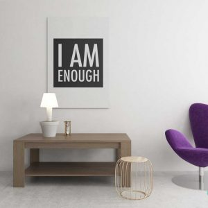 wall-art-i-am-enough-motivational-poster